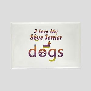 Skye Terrier designs Rectangle Magnet
