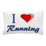 I Heart Running Pillow Case