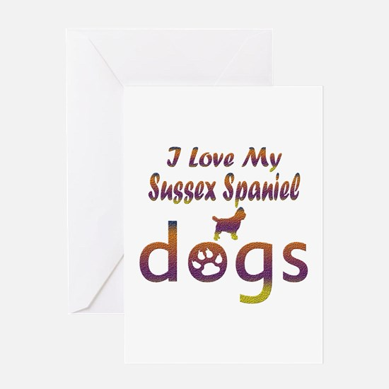 Sussex Spaniel designs Greeting Card
