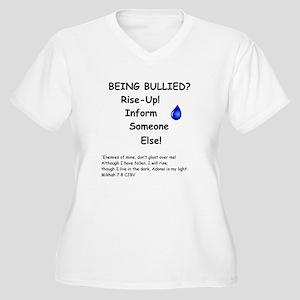 Being Bullied? Women's Plus Size V-Neck T-Shirt