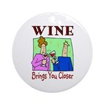 Wine Ornament (Round)