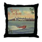 JerseyShoreHolidaySq Throw Pillow