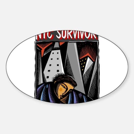 NYC Survivor Sticker (Oval)