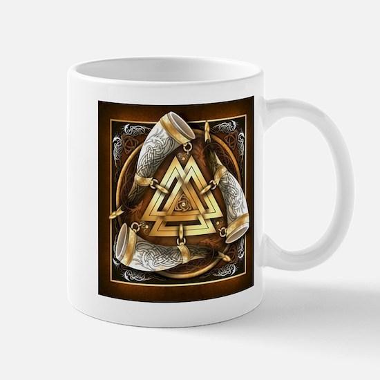 Norse Drinking Horn Valknut Mug