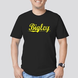 Bigley, Yellow Men's Fitted T-Shirt (dark)