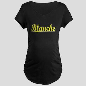 Blanche, Yellow Maternity Dark T-Shirt