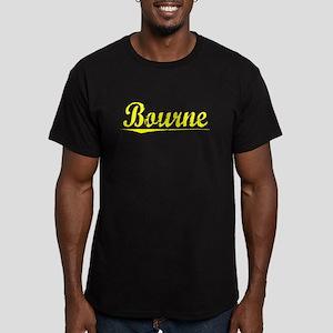 Bourne, Yellow Men's Fitted T-Shirt (dark)