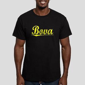Bova, Yellow Men's Fitted T-Shirt (dark)
