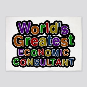 World's Greatest ECONOMIC CONSULTANT 5'x7' Area Ru