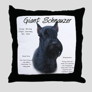Giant Schnauzer Throw Pillow