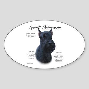 Giant Schnauzer Sticker (Oval)