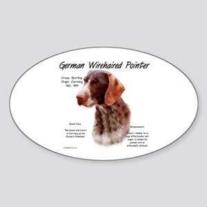 German Wirehaired Pointer Sticker (Oval)