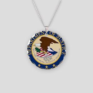 DOJ seal Necklace Circle Charm