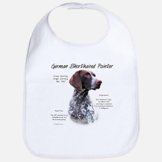 German Shorthaired Pointer Cotton Baby Bib