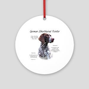 German Shorthaired Pointer Round Ornament