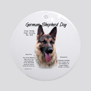 GSD Round Ornament
