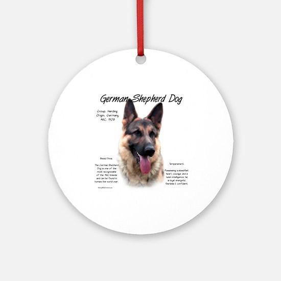 GSD Round Ornament