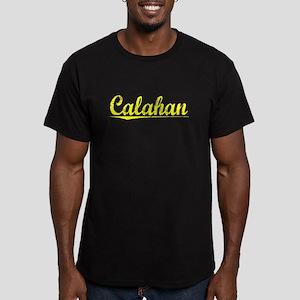 Calahan, Yellow Men's Fitted T-Shirt (dark)