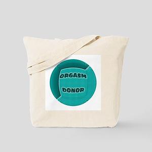 ORGASM DONOR AQUA ROUND Tote Bag