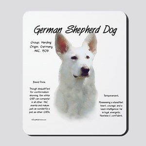 White GSD Mousepad