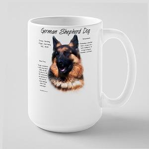 Longhair GSD 15 oz Ceramic Large Mug