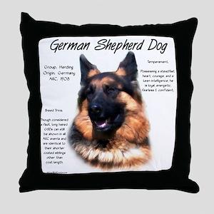 Longhair GSD Throw Pillow