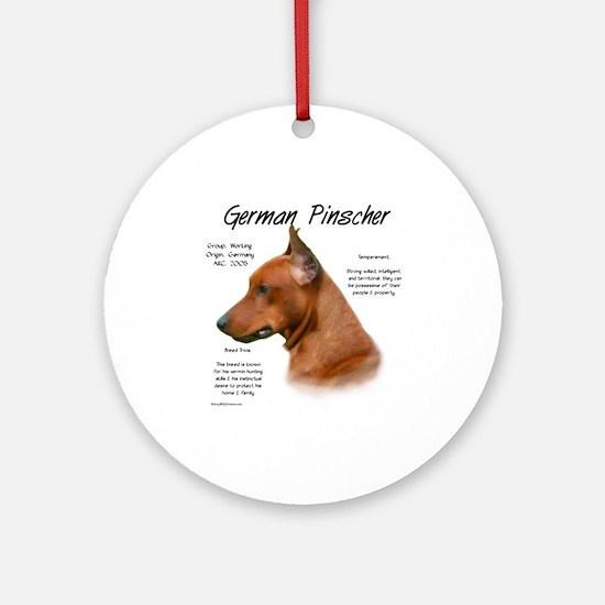 German Pinscher Round Ornament