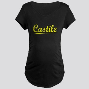Castile, Yellow Maternity Dark T-Shirt