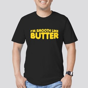 Im Smooth Like Butter Men's Fitted T-Shirt (dark)