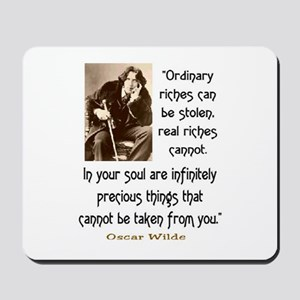 OSCAR WILDE QUOTE Mousepad
