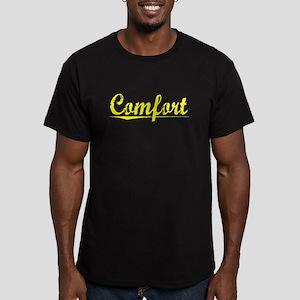 Comfort, Yellow Men's Fitted T-Shirt (dark)