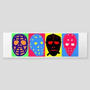 Vintage Hockey Goalie Masks Sticker (Bumper)