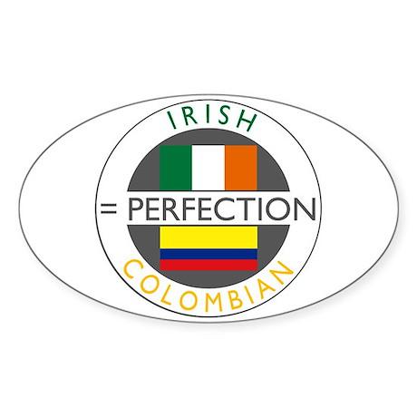 Irish Colombian heritage flag Sticker