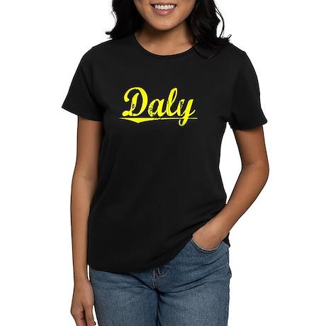 Daly, Yellow Women's Dark T-Shirt