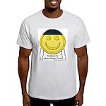 Messianic Smiley Ash Grey T-Shirt