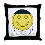 Messianic Smiley Throw Pillow