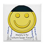 Messianic Smiley Tile Coaster
