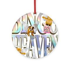 Bingo Heaven Text Animals Ornament (Round)