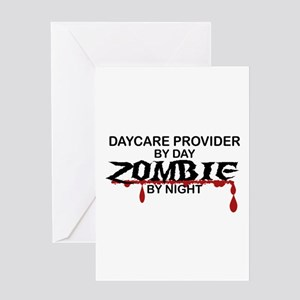 Daycare Provider Zombie Greeting Card