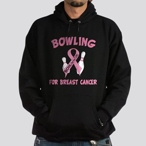 Bowling for Breast Cancer Hoodie (dark)