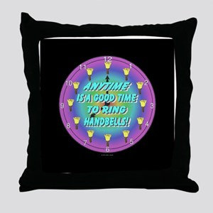 Anytime Black Throw Pillow