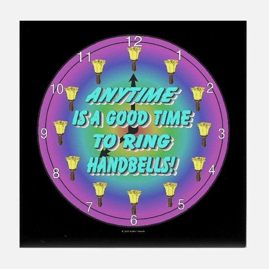 Anytime Black Tile Coaster