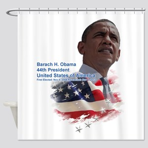 Obama re-elected: Shower Curtain