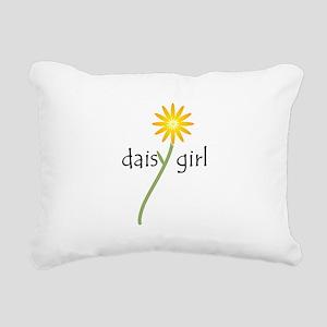 Daisy Girl (yellow) Rectangular Canvas Pillow