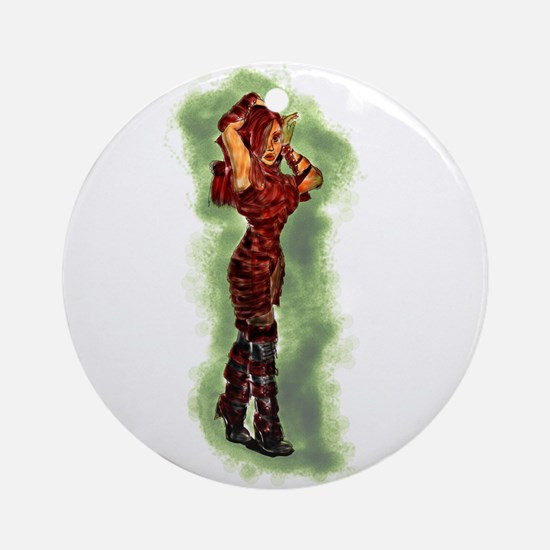 sexy cartoon girls Ornament (Round)