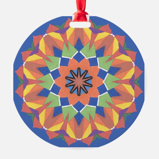 A Colorful Lotus Shape Ornament