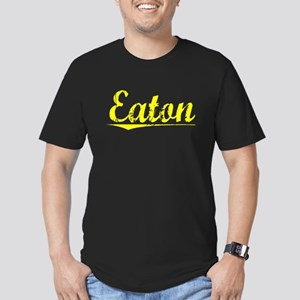 Eaton, Yellow Men's Fitted T-Shirt (dark)