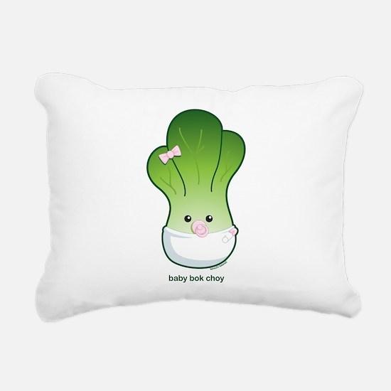 Baby Bok Choy Rectangular Canvas Pillow