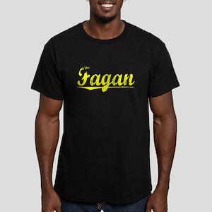 Fagan, Yellow Men's Fitted T-Shirt (dark)