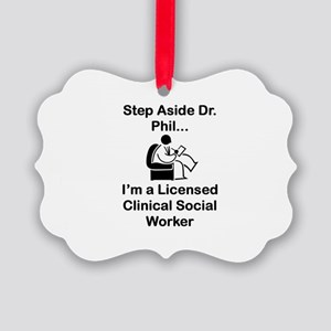 Step Aside Dr. Phil... Picture Ornament